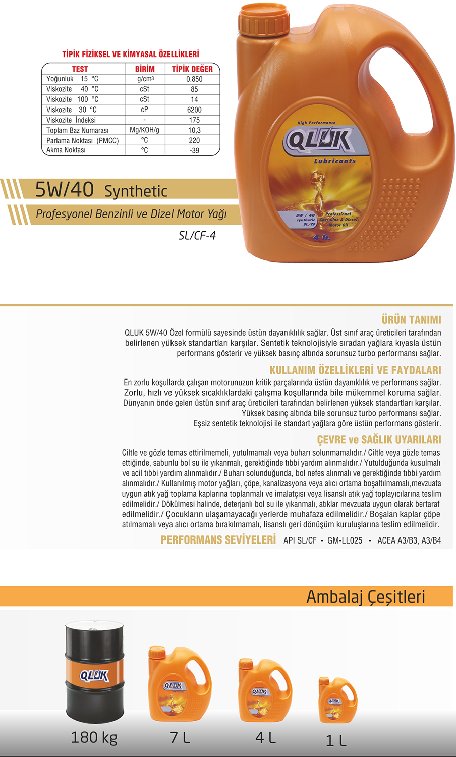 5W/40 Synthetic